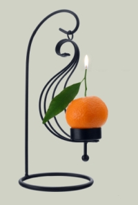Mandarin orange scented candle