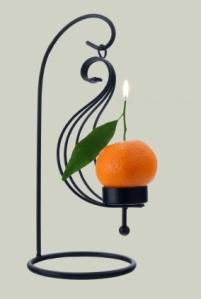 Mandarin orange scented candle